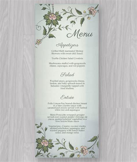 Watercolor Flowers Menu Template   Download & Print