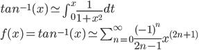 tan-1(x)をテーラー展開