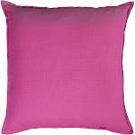 Rizzy Home 20-Inch Solid Throw Pillow, Hot Pink