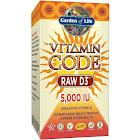 Garden of Life Vitamin Code Raw D3 5000 IU - 60 Capsules