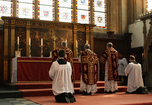 At the foot of the Altar