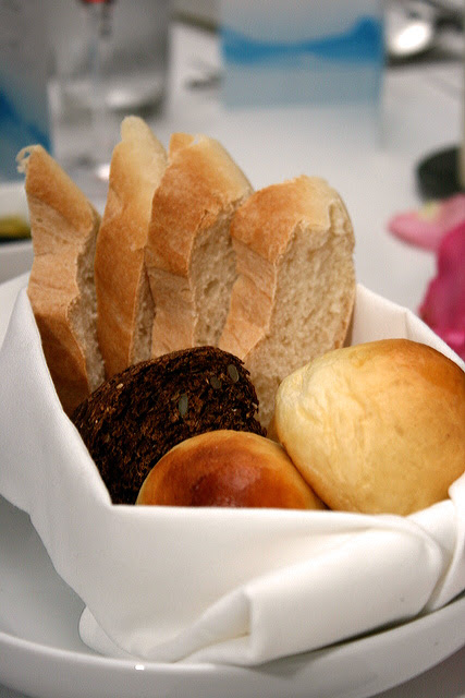 Bread basket - the dark rye with pumpkin seeds is the best of the lot!