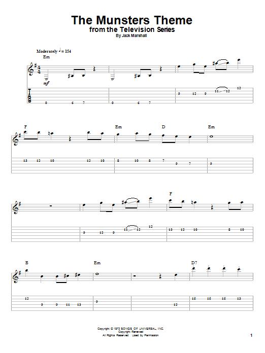 guitar tab playalong halloween search results sheet music direct