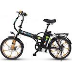 GreenBike Electric Motion 2018 City Hybrid 350W 48V Folding Electric Bike, Black