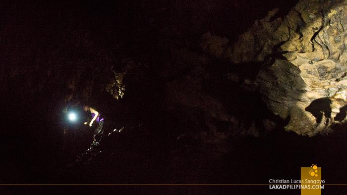 In the Dark at Suhot Cave in Dumalag, Capiz