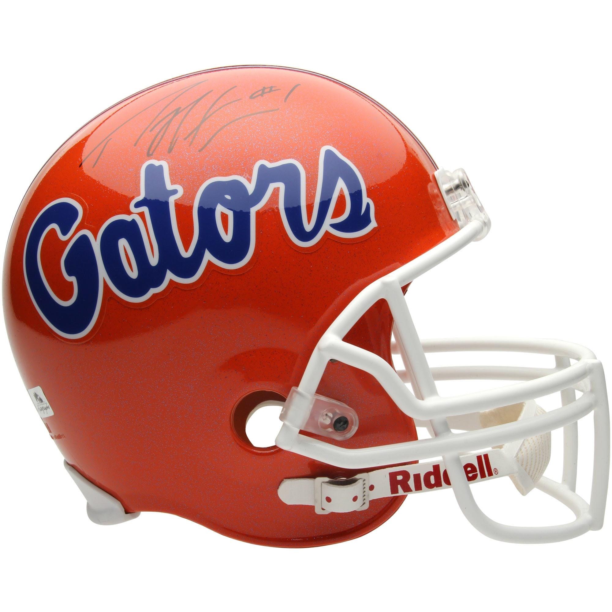 Percy Harvin Florida Gators #1 Autographed Full Size Replica Helmet