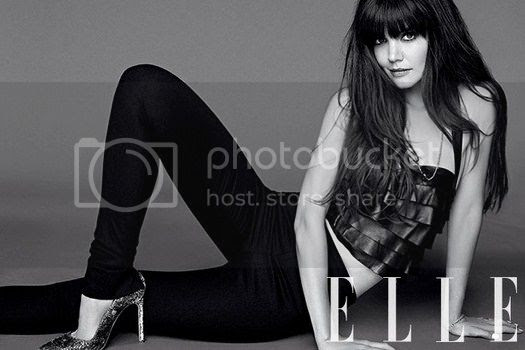 Katie Holmes on Elle August 2012 Issue