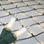 4' x 8' Clear Christmas Net Lights, 200 Lamps on Green Wire