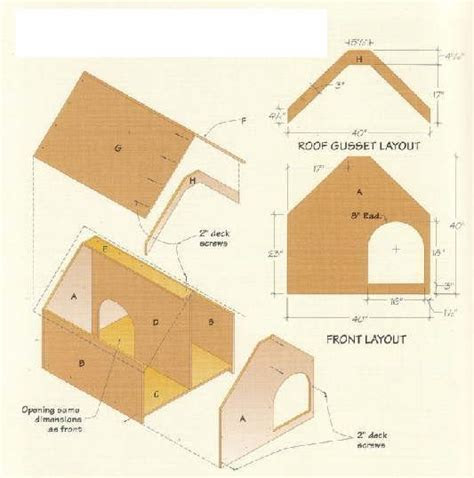 dog house building plans part  size part  size
