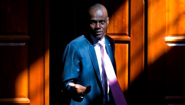 File image of Haiti president Joven Moise who was assassinated on 7 July. AP