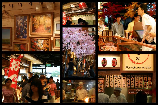 Manpuku has great atmosphere! Love the old Edo-style Japanese stalls