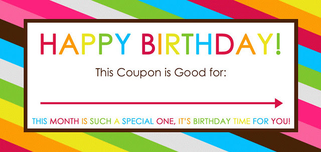 happy birthday coupon | printable coupon for birthday | fun birthday idea | this month is such a special one it's birthday time for you!