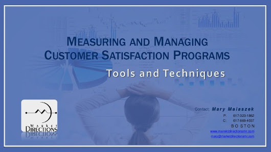 Measuring and Managing Customer Satisfaction Programs