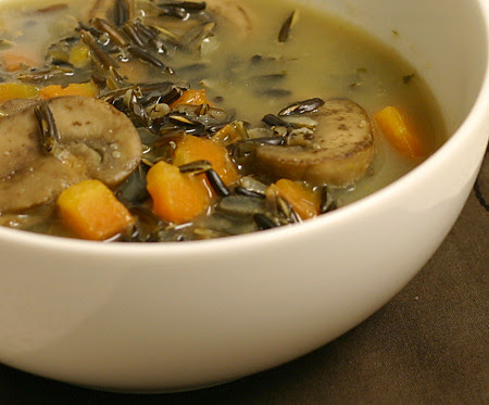 Wild rice and mushroom soup/pilaf