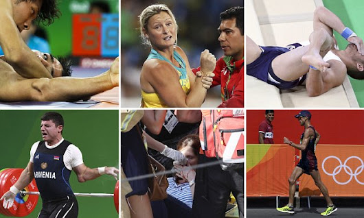 Spare a thought for these athletes: The worst injuries of the Olympics