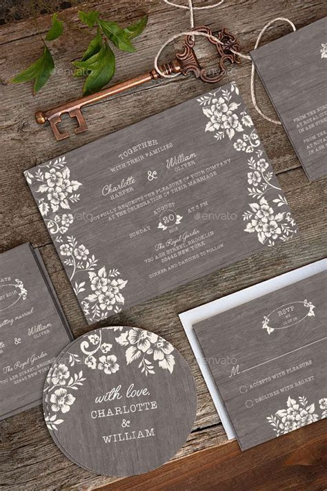 Wedding Invitation Package PSD   Wedding Invitations