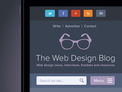 The Web Design Blog Mobile Website (with full screen preview)