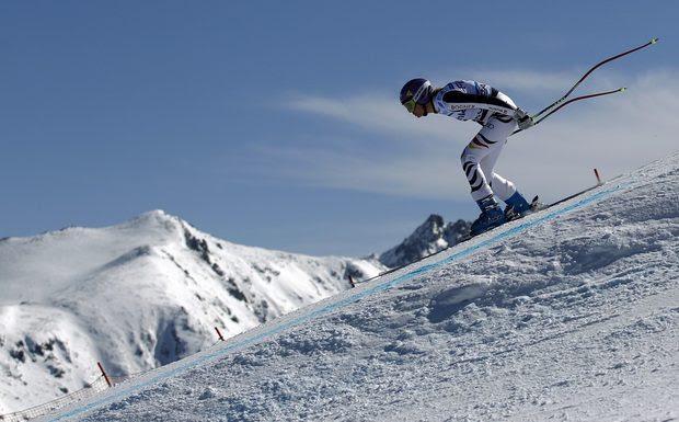 Носителката на Световната купа Мария Рийш беше най-бърза в първата тренировка за спускането в Банско преди състезанията по ски алпийски дисциплини през уикенда.