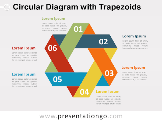 Circular Diagram with Trapezoids for PowerPoint - PresentationGO.com