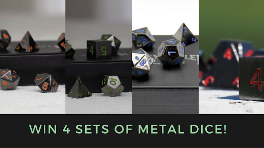 Win 4 Sets Of Our Gunmetal Dice Series (approx value: $180!)