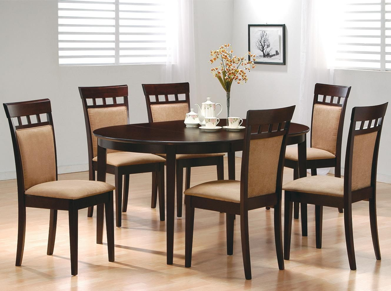 Hyde 5 Piece Modern Espresso Dining Table and Cushion Back ...