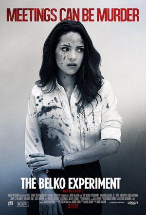 Adria Arjona plays Leandra Flores in THE BELKO EXPERIMENT.