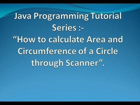 How To Calculate Area And Circumference Of Circle In A