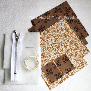 Material To Sew Triangle Coin Purse