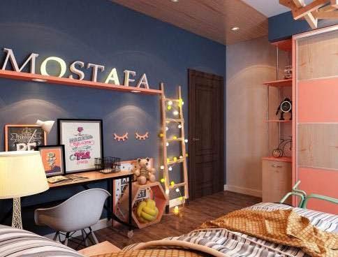 Διακόσμηση στο Παιδικό -Εφηβικό δωμάτιο με μπλε και κοραλί