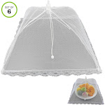 Evelots Pop Up Mesh Food Cover/Umbrella-BBQ/Picnic/Outdoor Party-No Insect-Set/6