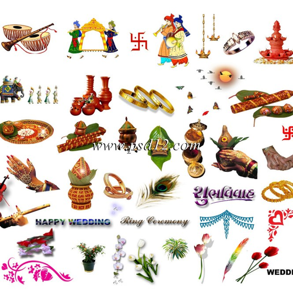 clipart for hindu wedding cards