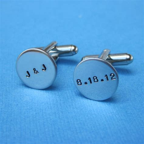 Custom Cuff Links   Personalized Wedding Groom's Gift Best