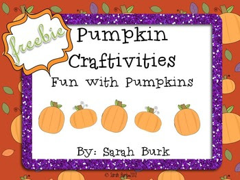 Pumpkin Craftivities - Fall - Freebie