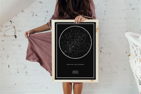 The Night Sky   the Original, Unique Custom Star Map with