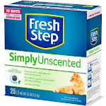 Fresh Step - Simply Unscented Litter - Clumping Cat Litter - 25lbs