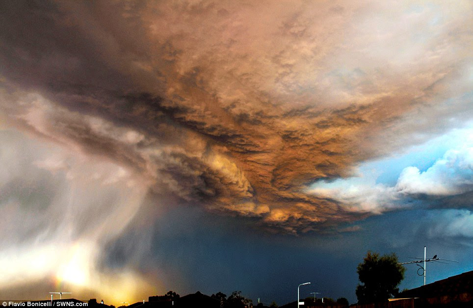 February: A thunderstorm sweeps over the Melbourne suburb of Carrum Downs, captured by Flavio Bonicelli.