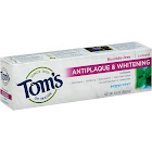 Toms of Maine Antiplaque & Whitening Toothpaste, Fluoride Free, Peppermint - 5.5 oz tube