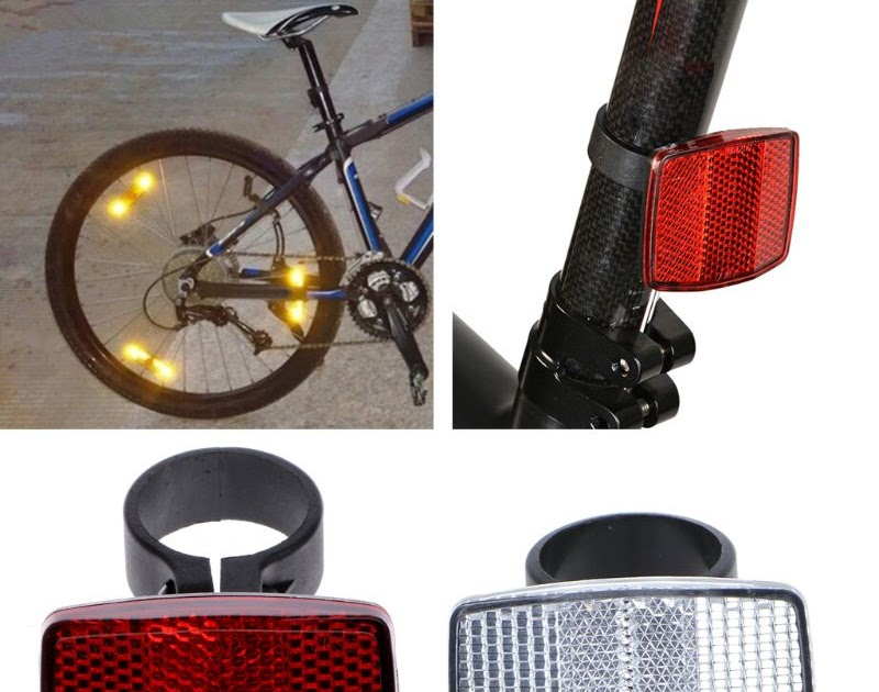 Bicycle Handlebar Reflector Reflective Front Rear Warning Safety Lens CF