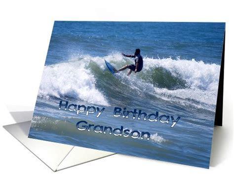 Happy Birthday Surfer Grandson card (498657)