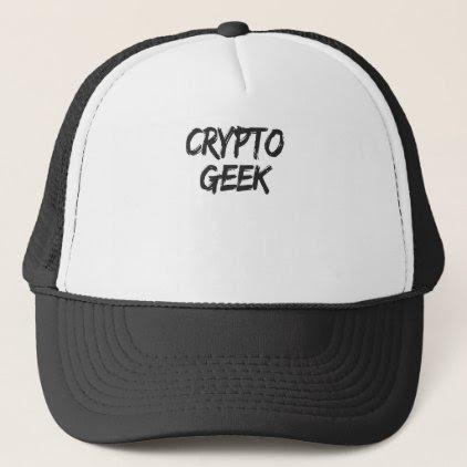 Crypto Geek Print Trucker Hat