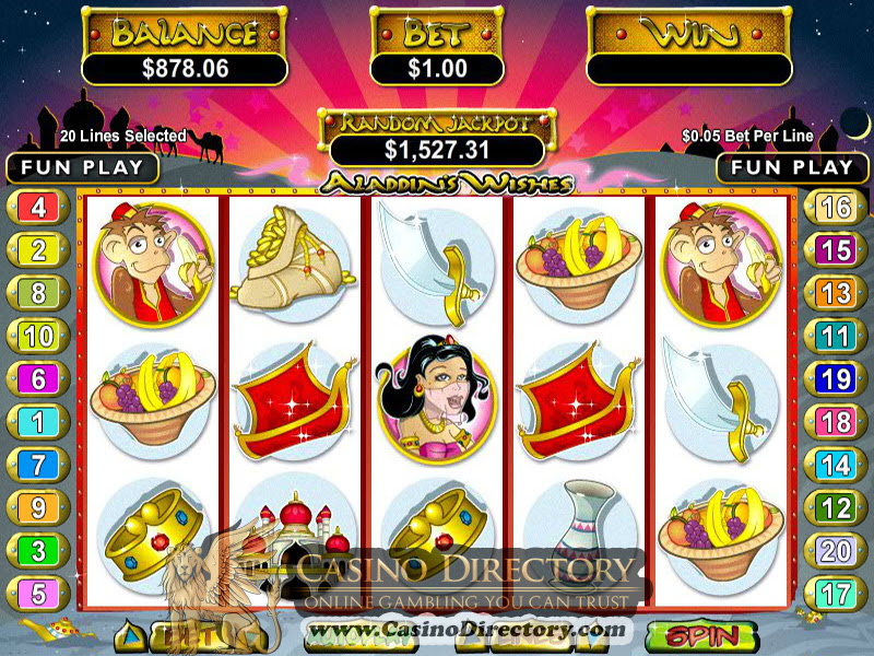 Aladdin's Wishes Mobile Options Like a lot of RTG online slots, you can enjoy Aladdin's Wishes on the move on mobile.We tested the game on iOS, Android, and other devices and found the game worked /5.İskenderun
