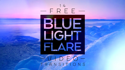 14 Free Blue Light Flare Transitions for Video Editing