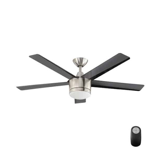 Merwry 52 in. LED Indoor Brushed Nickel Ceiling Fan Manual | Hampton Bay Ceiling Fans Lighting & Patio Furniture Outlet