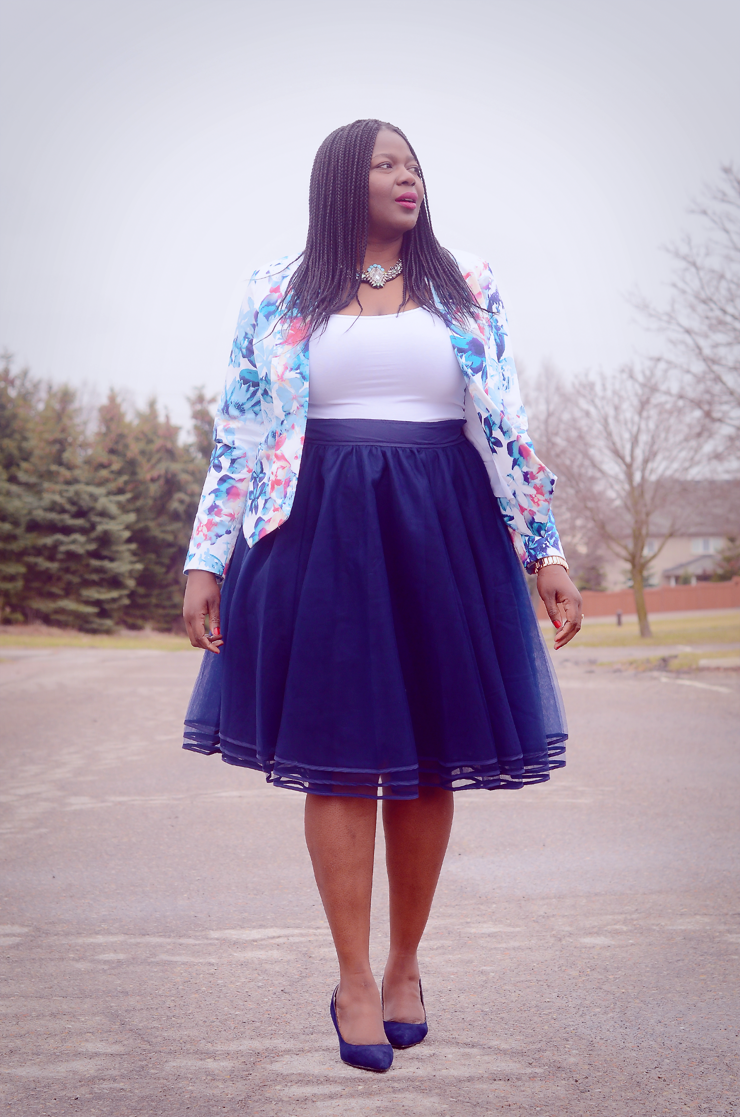 navy tulle skirt  my curves and curls