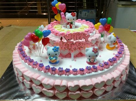 walmart bakery birthday cakes  kitty birthday cake