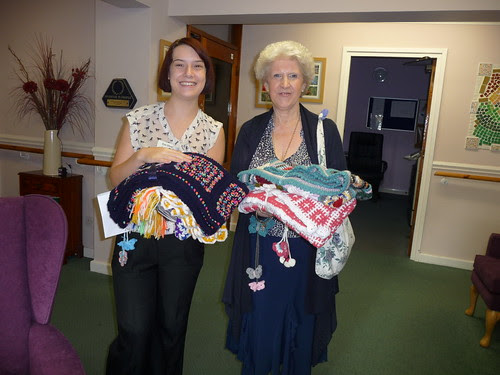 Delivering the Blankets to Selly Wood House Nursing Home.
