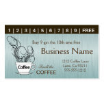 Blue Coffee Punch Cards on Both Sides Double-Sided Standard Business Cards (Pack Of 100)