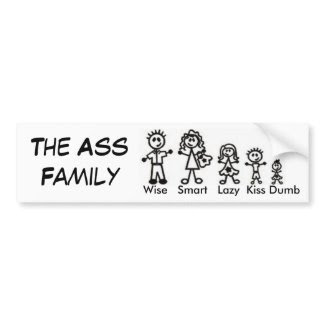 The Ass Family bumpersticker
