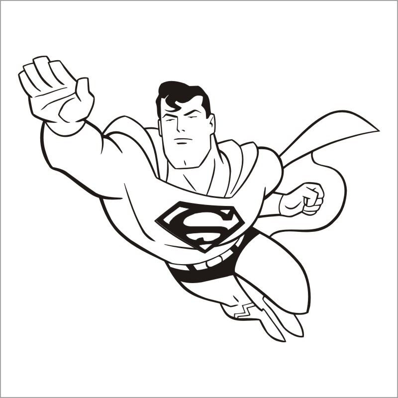 Cartoon Superman Drawing At Getdrawingscom Free For Personal Use