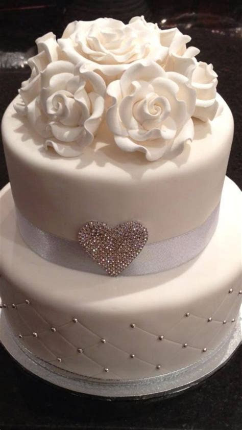 Wedding cake, simple but elegant!   Anita   Pinterest